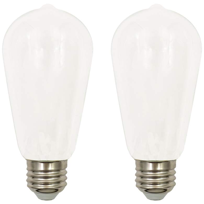 60W Equivalent Milky 7W LED Dimmable Standard ST19 2-Pack