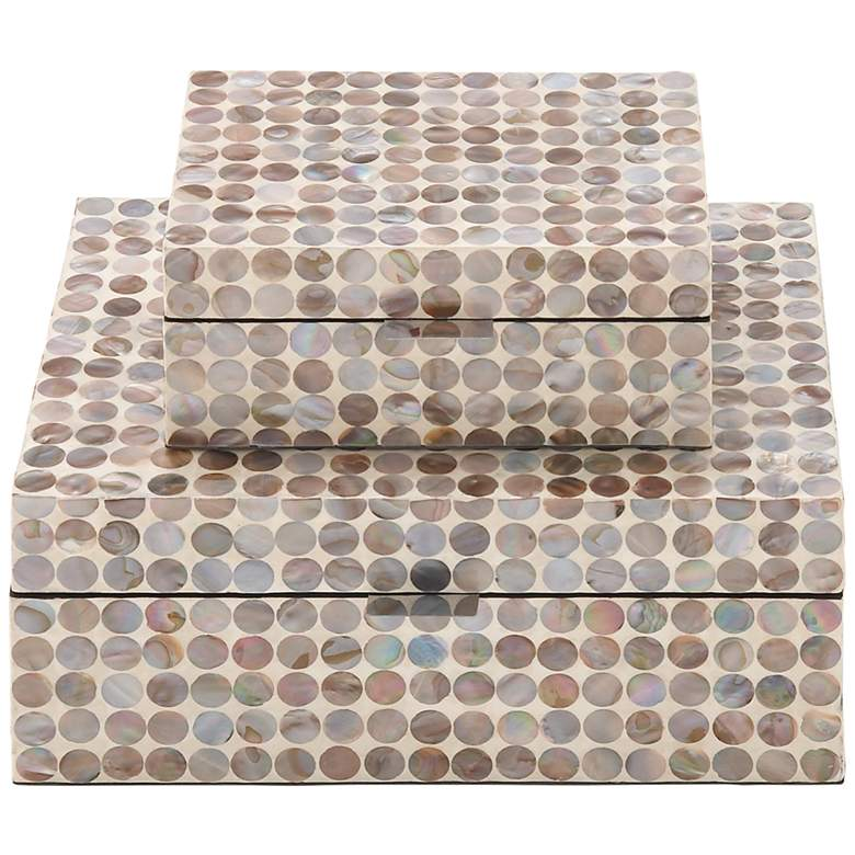 Cream Mother of Pearl Inlay Decorative Boxes Set
