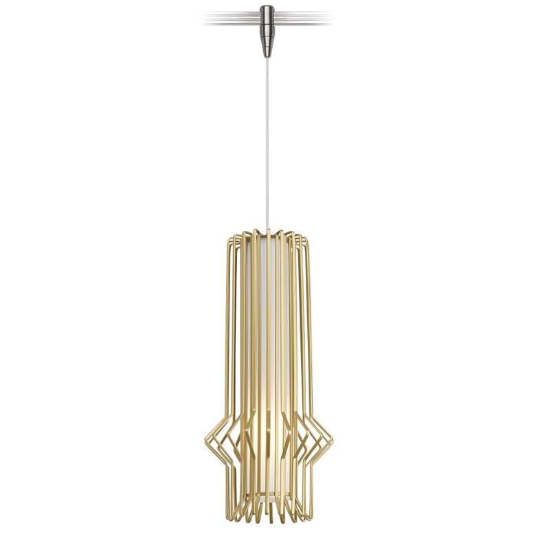 "Tech Lighting Syrma 5"" Wide Satin Gold Monorail"