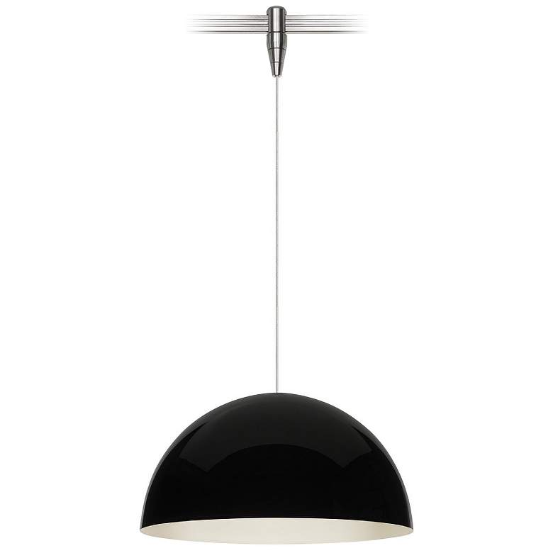 "Powell Street 12""W Black-White LED Monorail Mini Pendant"