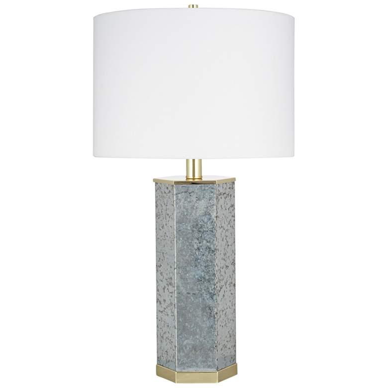 Galvanized Metal Hexagonal LED Table Lamp - #82R03 | Lamps ...