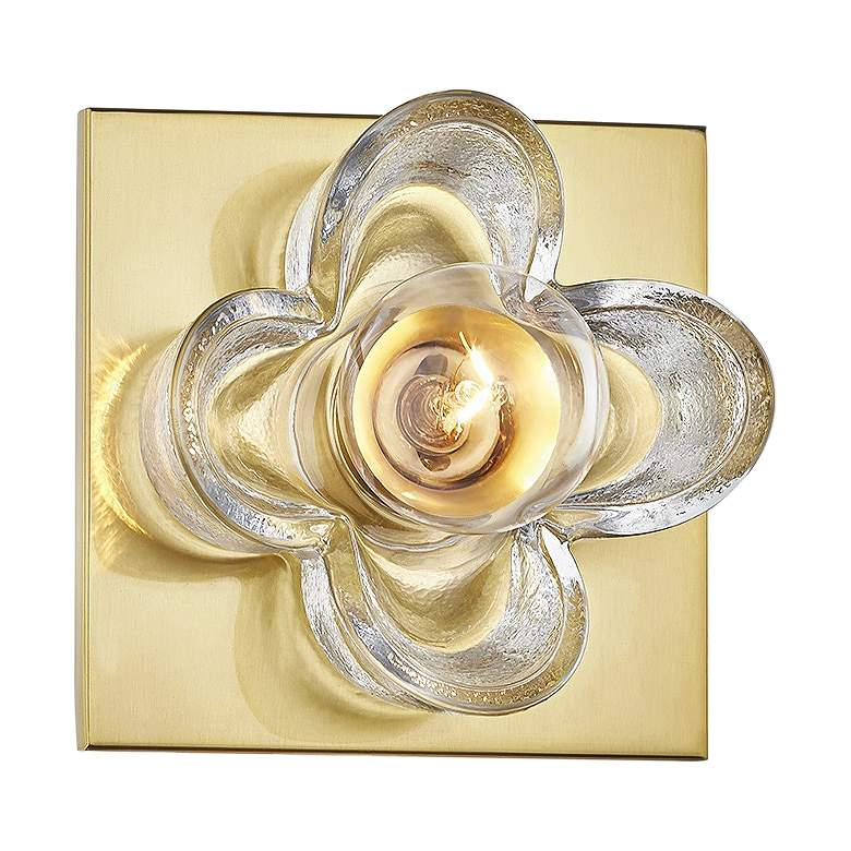 "Mitzi Shea 4 3/4"" High Aged Brass Wall Sconce"