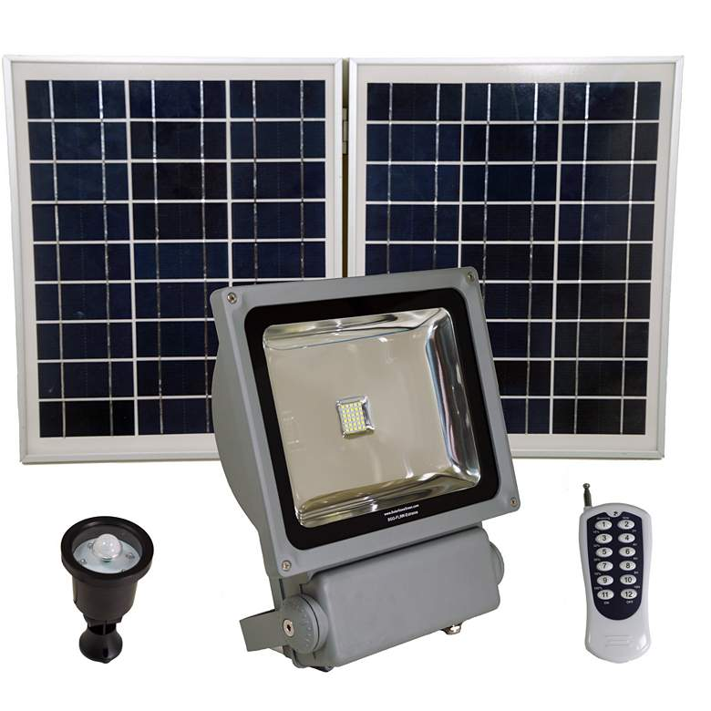 """Extreme Series 11 1/4""""H Gray 1320lm Solar LED"""