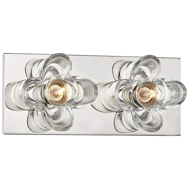 "Mitzi Shea 11"" Wide Polished Nickel 2-Light Bath Light"