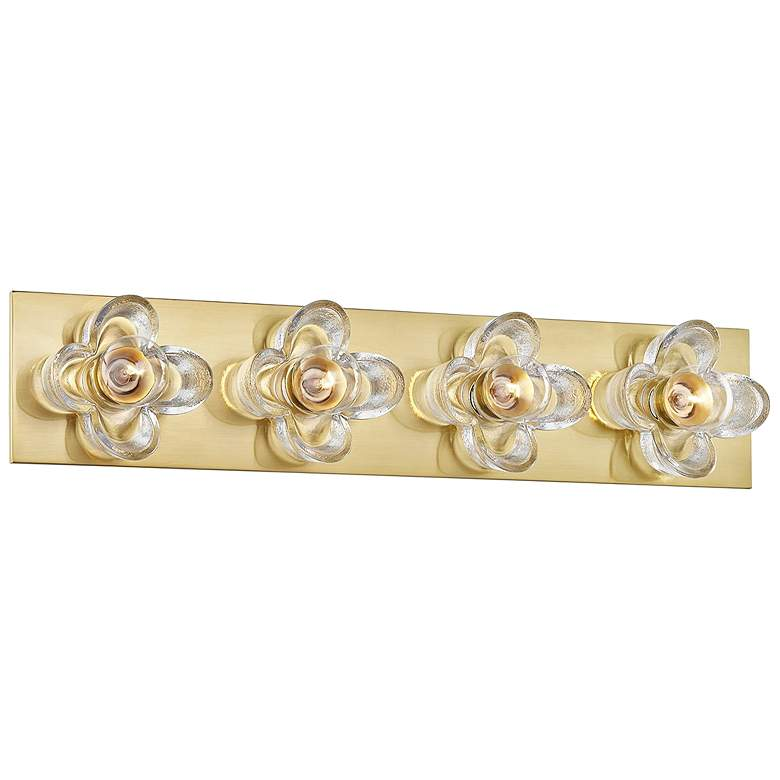 "Mitzi Shea 22"" Wide Aged Brass 4-Light Bath Light"