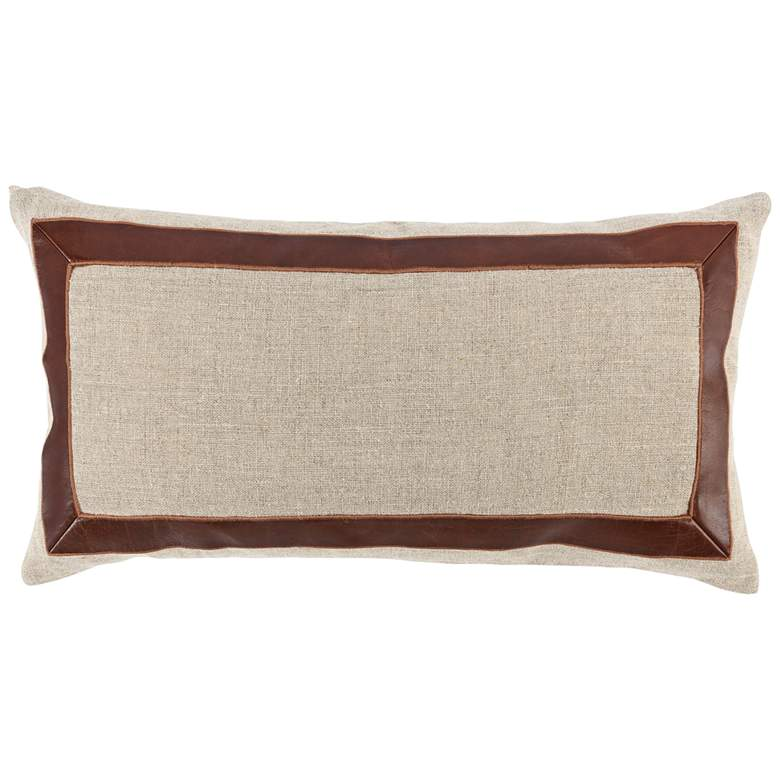 """Maxwell Brown and Natural 26"""" x 14"""" Decorative Pillow"""