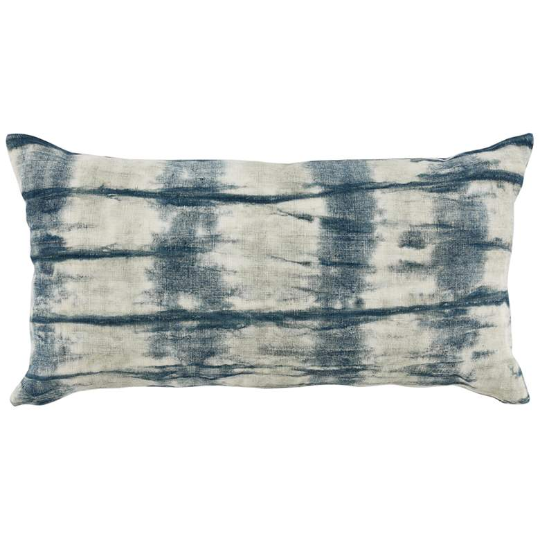 """Low Tide Blue Abstract 26"""" x 14"""" Decorative Pillow"""