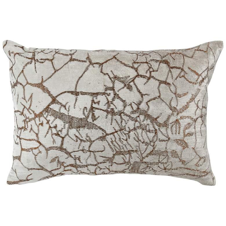 """Syra Natural Abstract 20"""" x 14"""" Decorative Pillow"""