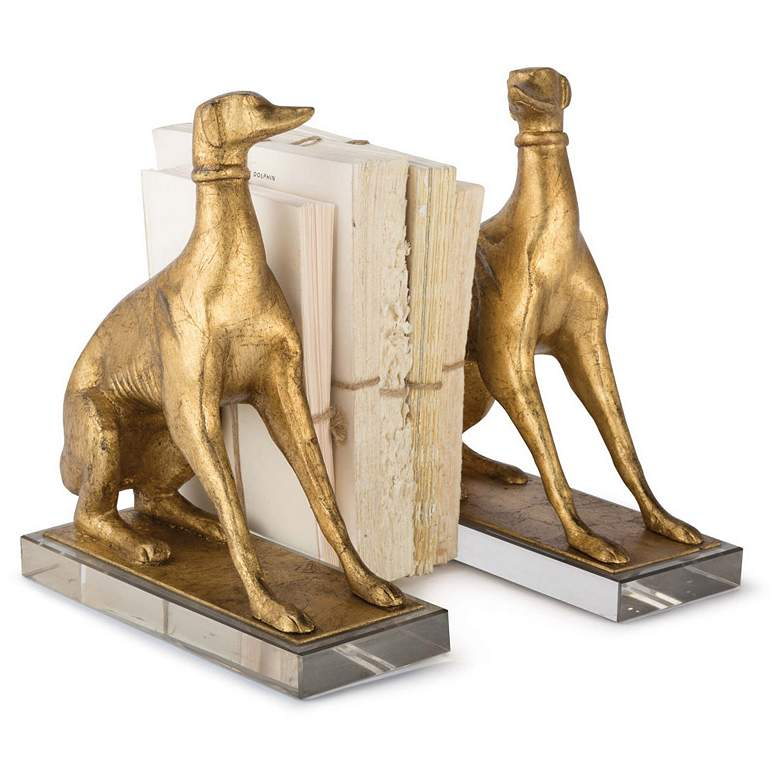 Regina Andrew New South Antique Gold Norman Dog Bookends