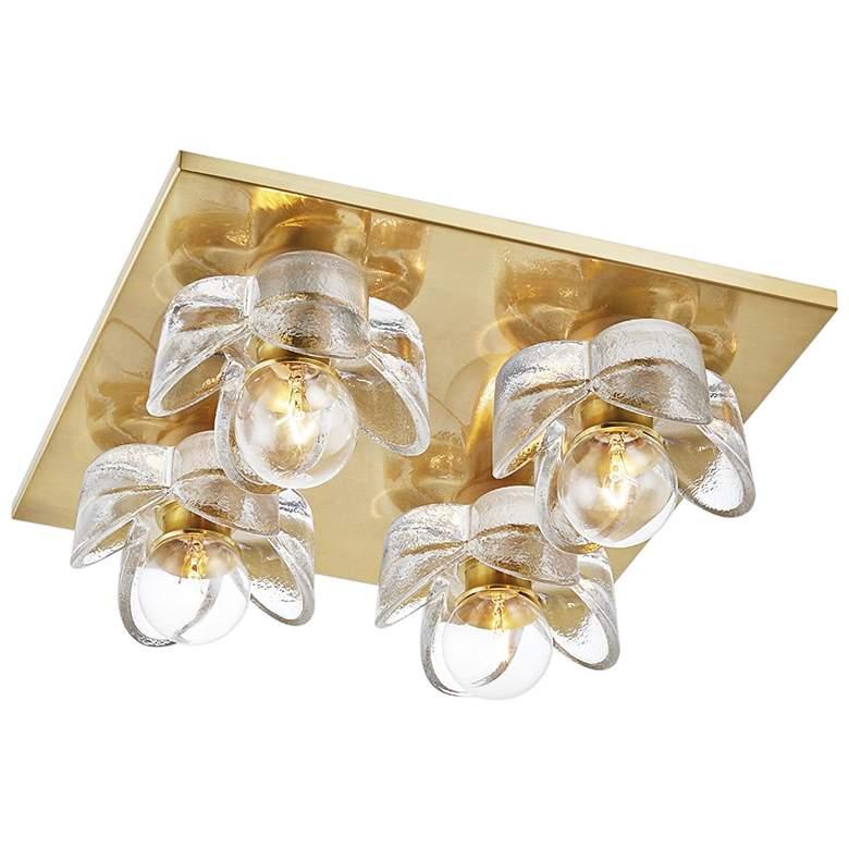 """Mitzi Shea 11"""" Wide Aged Brass 4-Light Ceiling Light"""