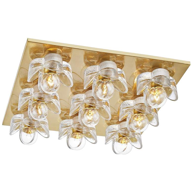 "Mitzi Shea 16 1/2"" Wide Aged Brass 9-Light"