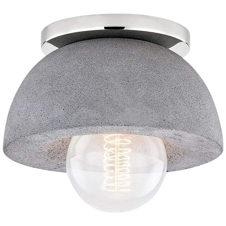 "Mitzi Poppy 7"" Wide Polished Nickel Ceiling Light"