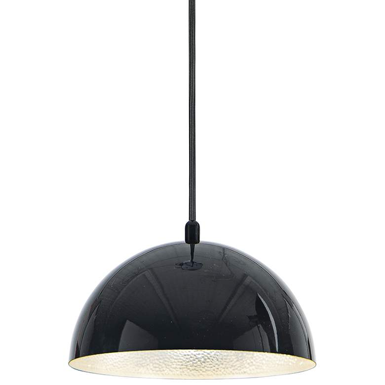 "ET2 Hemisphere 9"" Wide Gloss Black LED Mini Pendant Light"