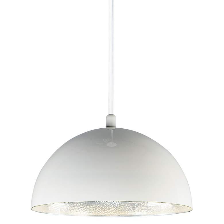 """ET2 Hemisphere 14"""" Wide Gloss White LED Pendant Light"""