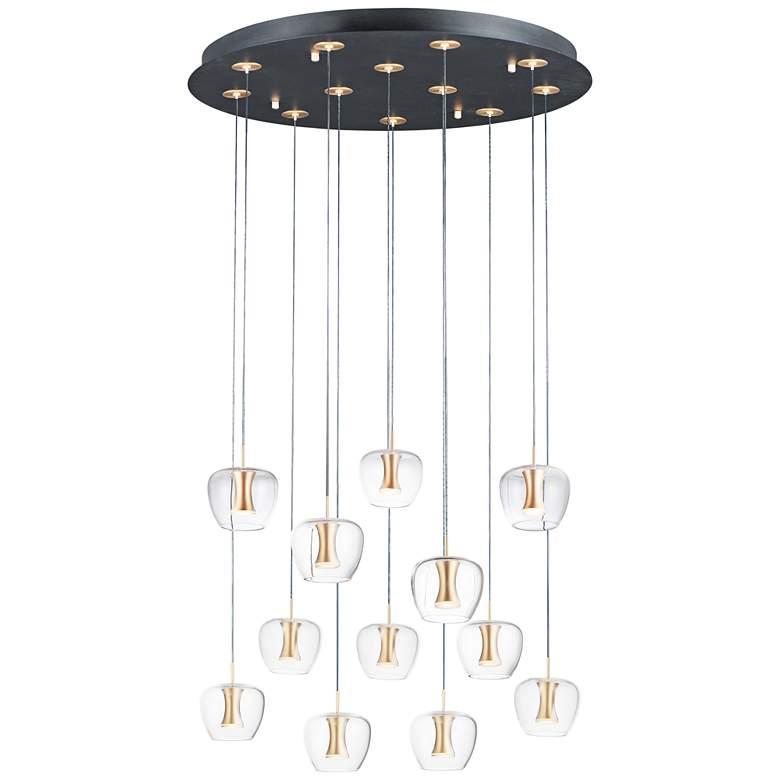 "ET2 Newton 27 1/2"" Wide Black Gold LED Multi-Light Pendant"