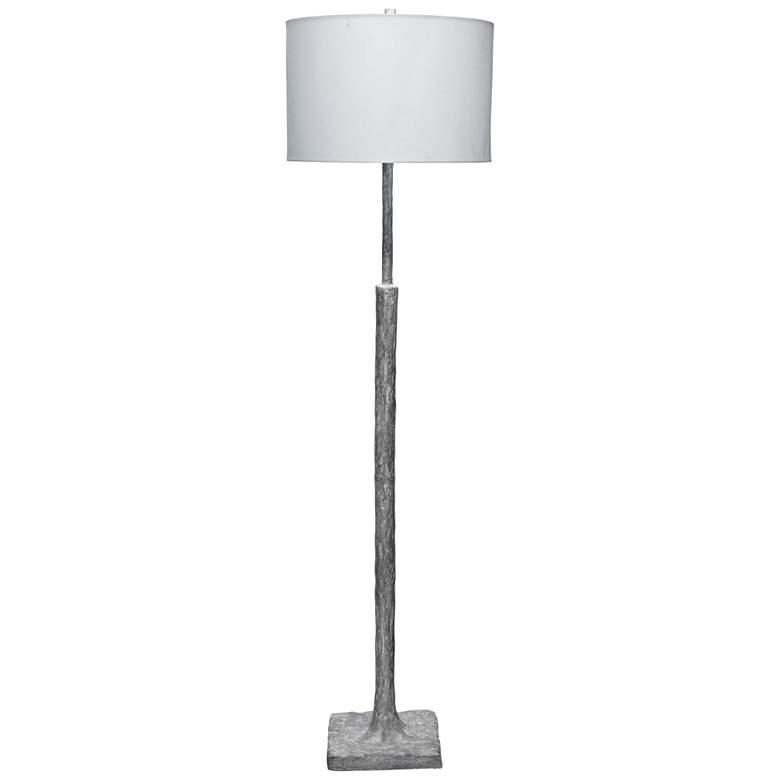 Jamie Young Humble Textured Gray Plaster Stem Floor Lamp