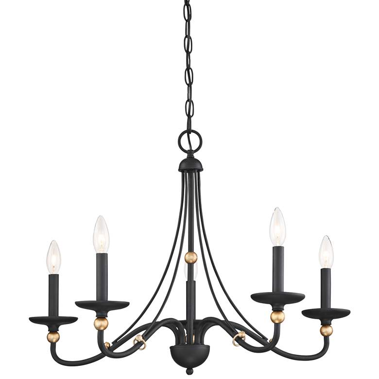 "Westchester County 28"" Wide Sand Coal 5-Light Chandelier"