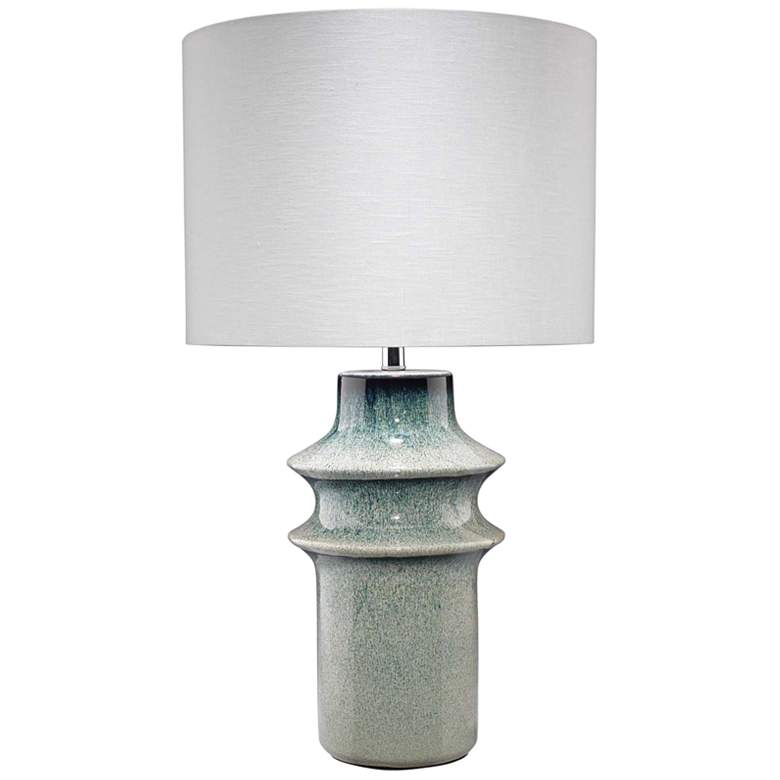Jamie Young Cymbals Blue Ceramic Vase Table Lamp