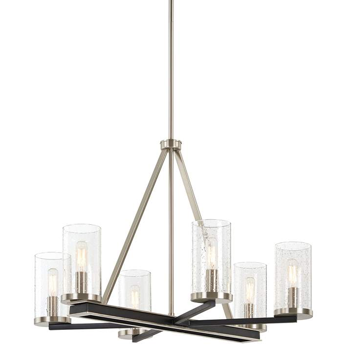 Cole S Crossing 26 W Coal Brushed Nickel 6 Light Chandelier 82v32 Lamps Plus