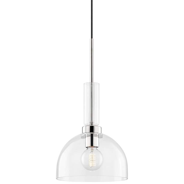 "Mitzi Tabitha 10"" Wide Polished Nickel Mini Pendant Light"