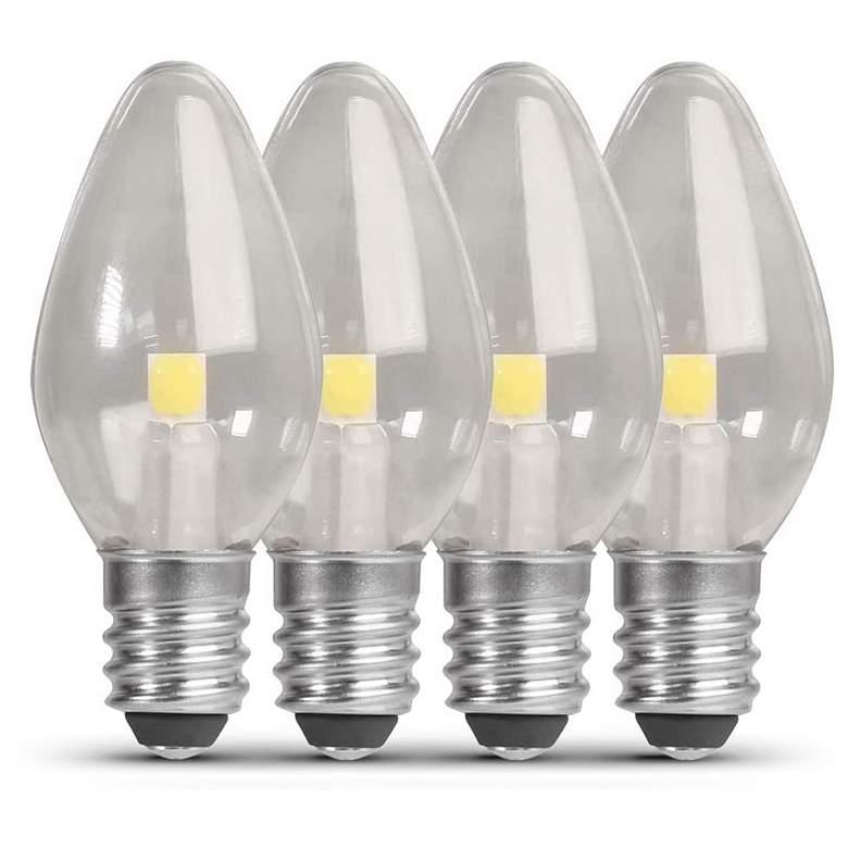 4W Equivalent Clear 0.35W LED Night Light Bulb Set of 2