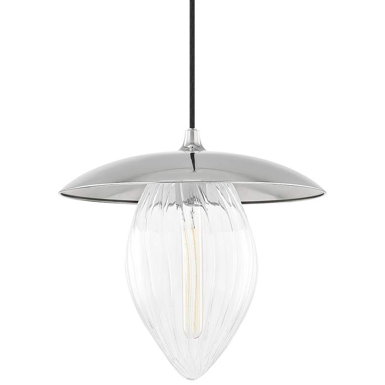 "Mitzi Lana 15"" Wide Polished Nickel Pendant Light"