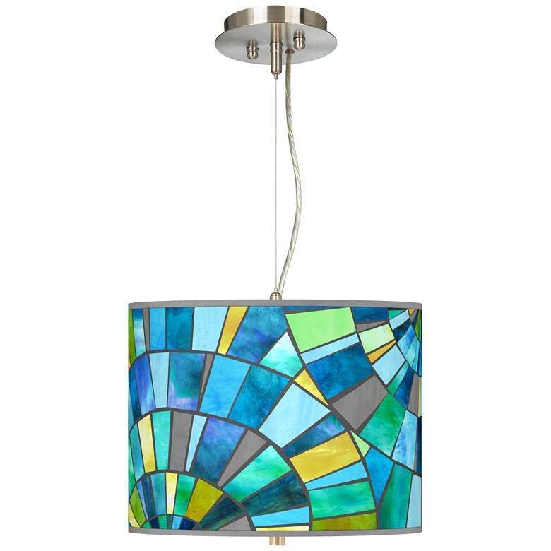 "Lagos Mosaic Giclee 13 1/2"" Wide Pendant Chandelier"