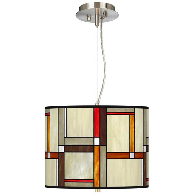 "Modern Squares Giclee 13 1/2"" Wide Pendant Chandelier"
