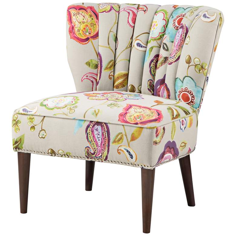 Abby Multi-Color Wingback Slipper Accent Chair