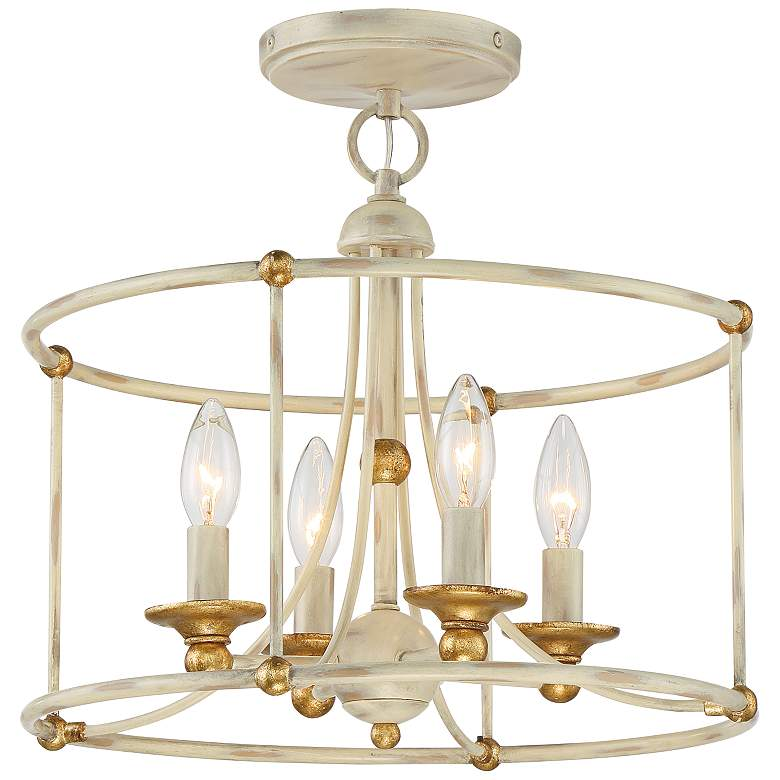 """Westchester County 15 3/4"""" Wide White 4-Light Ceiling Light"""