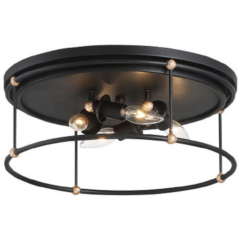 "Westchester County 16 1/2""W Sand Coal 4-Light Ceiling Light"