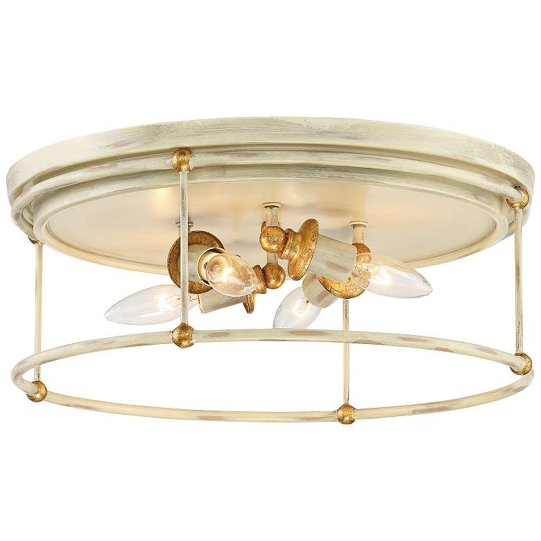 """Westchester County 16 1/2"""" Wide White 4-Light Ceiling Light"""