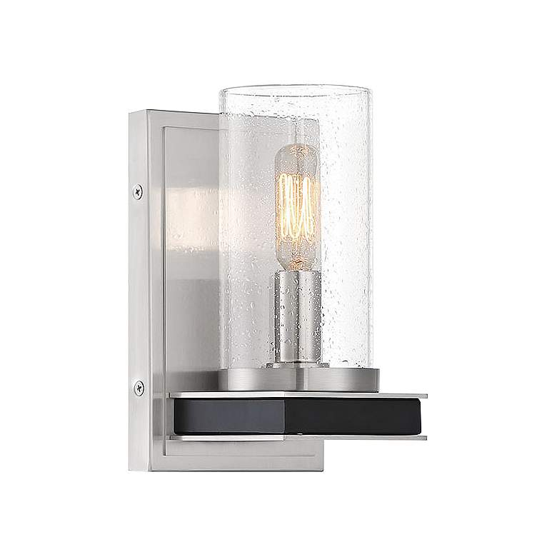 """Cole's Crossing 8 1/4"""" High Brushed Nickel Wall Sconce"""
