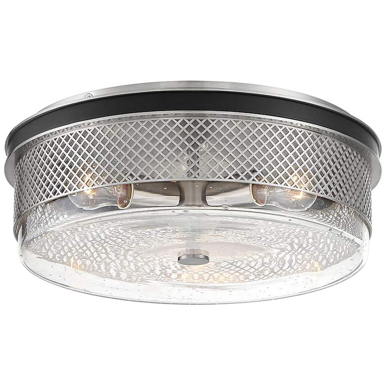 "Cole's Crossing 15""W Brushed Nickel 3-Light Ceiling Light"