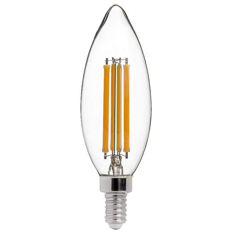 75W Equivalent Torpedo 7W LED Dimmable Filament Candelabra