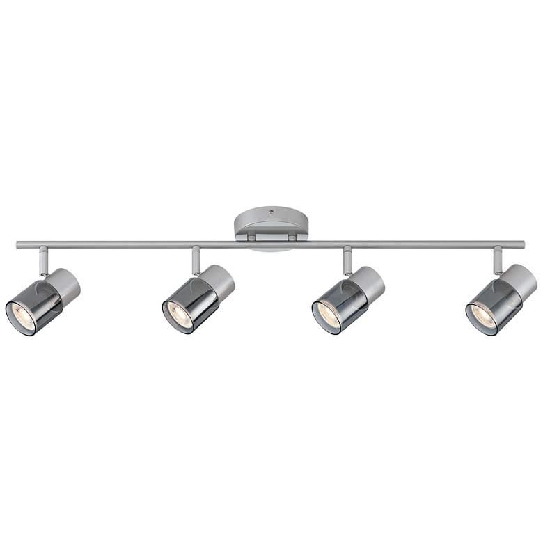 Pro Track 4-Light Silver LED Track Fixture