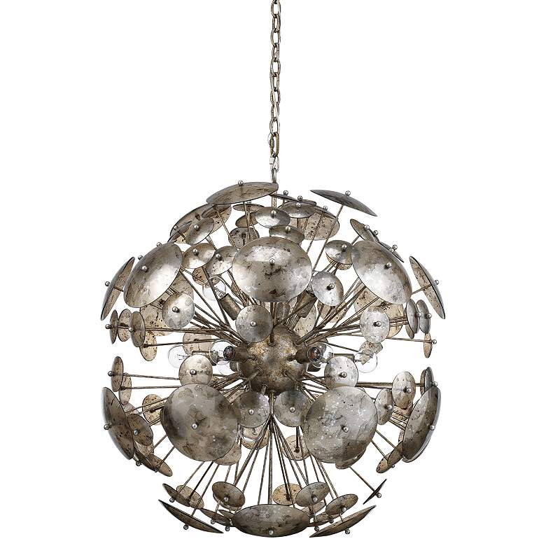 "Constellation 30""W Champagne Leaf 12-Light Sputnik Pendant"