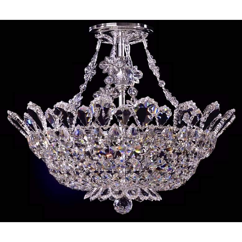 "Schonbek Trilliane 19""W Spectra Crystal Silver Ceiling Light"