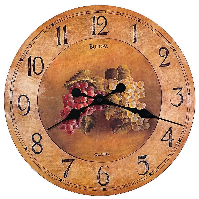 "Bulova Whittingham Decorative 18"" Wide Wall Clock"