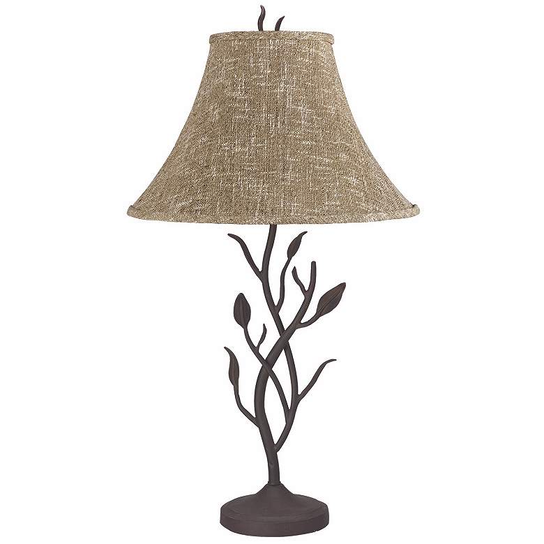 Wrought Iron Tree Table Lamp
