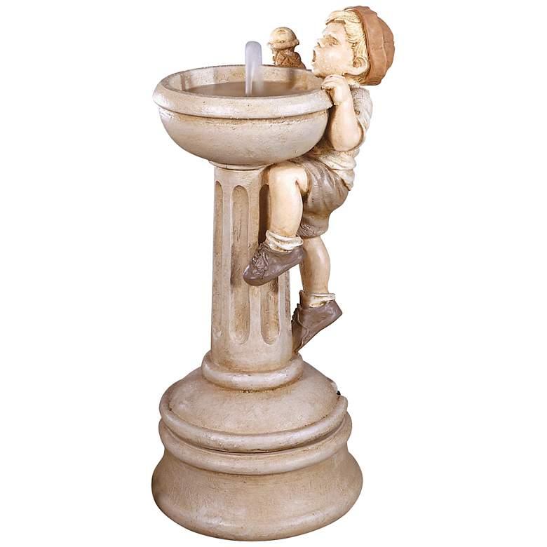 "Jack's Dilemma 31"" High Cast Stone Garden Water Fountain"