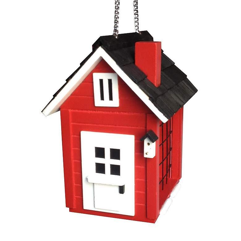 Cottage Suet Red Wood Hanging Bird Feeder