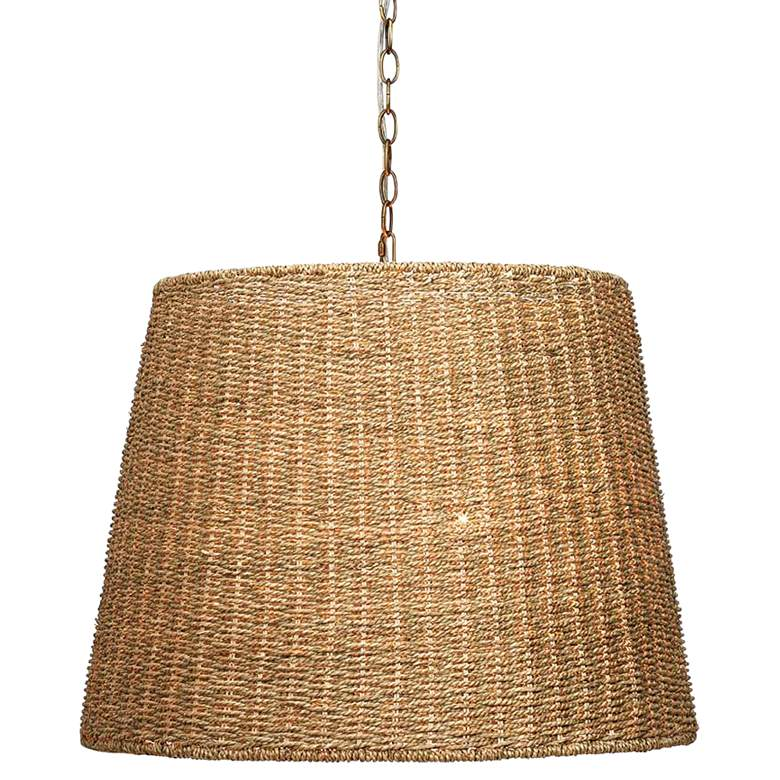 """Jamie Young Willow 24"""" Wide Natural Seagrass Pendant Light"""