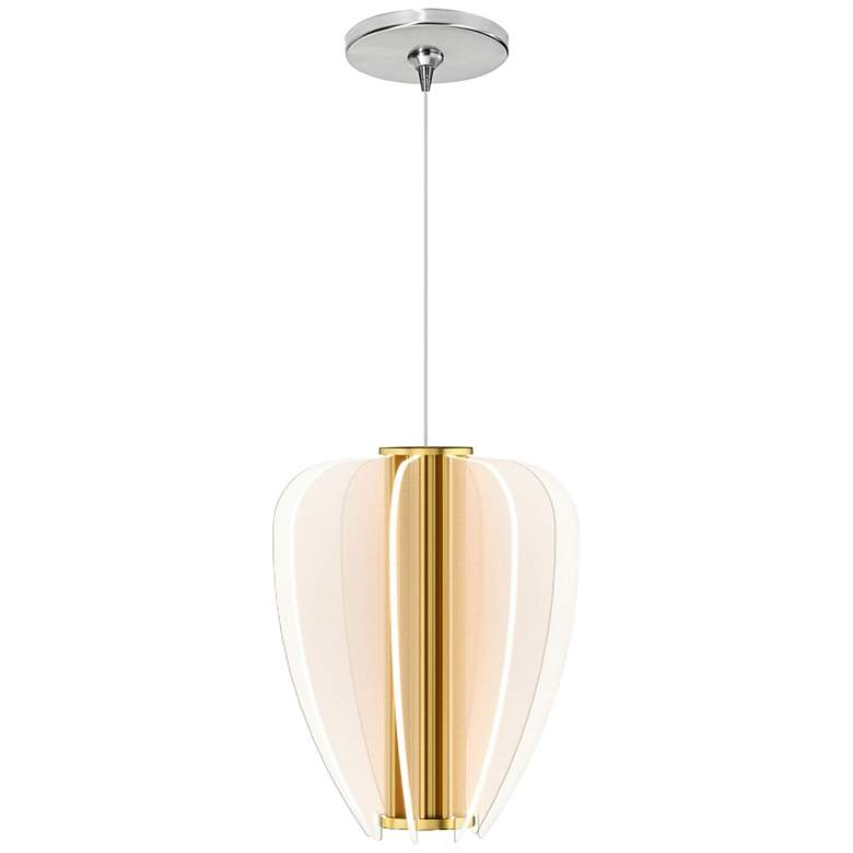 "Nyra 8 1/2"" Wide Plated Brass LED Freejack Mini Pendant"