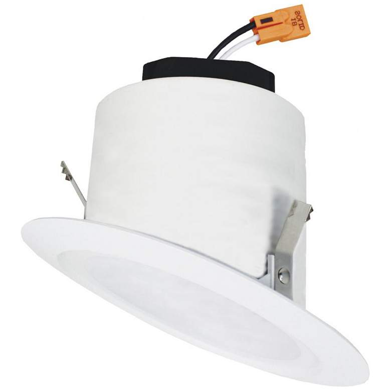 """Elco 4"""" White Sloped Ceiling LED Smooth Recessed Downlight"""
