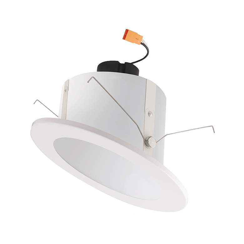 """Elco 6"""" White Sloped Ceiling 5 Colors Setting LED Reflector Downlight"""