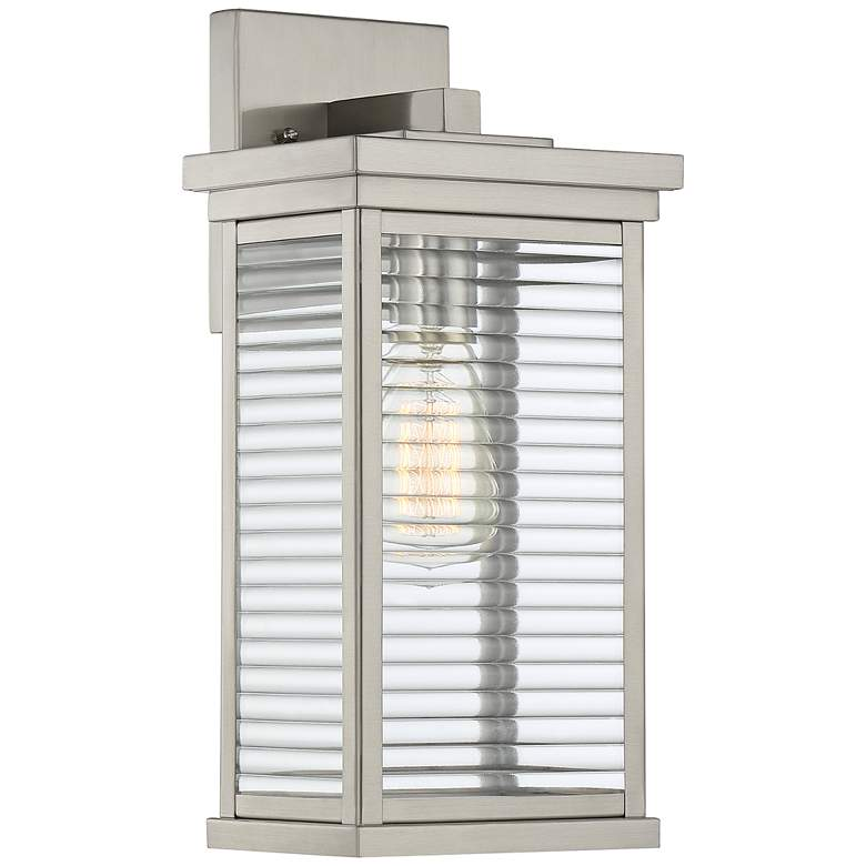 "Quoizel Gardner 14 1/2""H Stainless Steel Outdoor Wall Light"