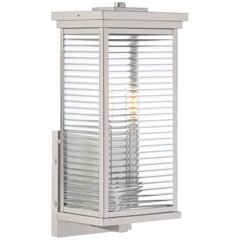 "Quoizel Gardner 17 1/4""H Stainless Steel Outdoor Wall Light"