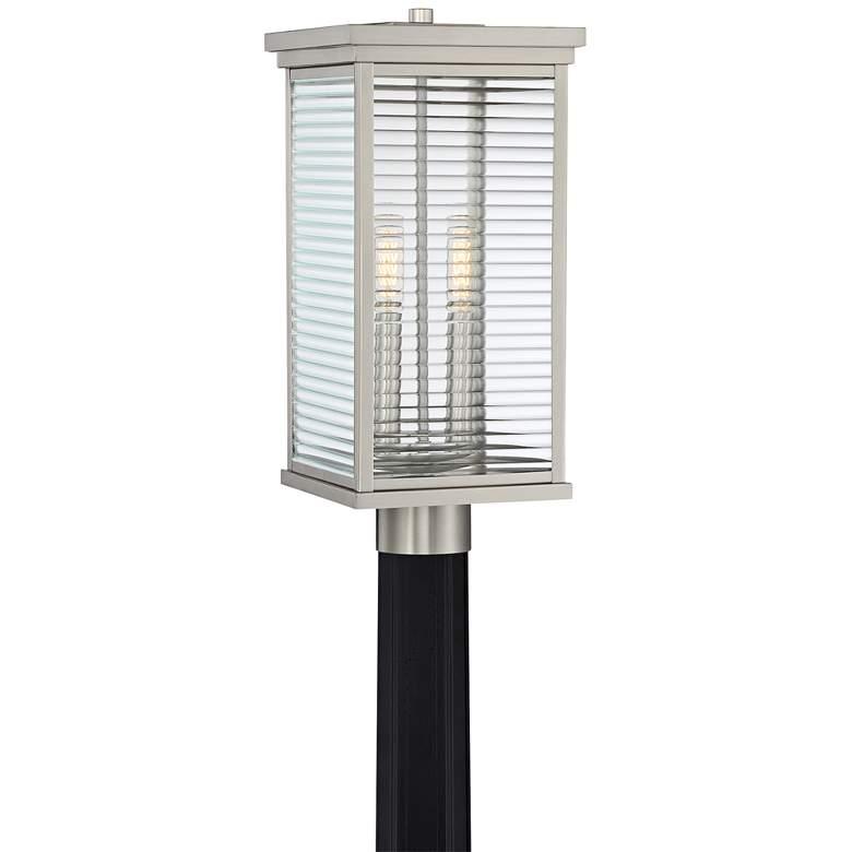 """Quoizel Gardner 17 3/4""""H Stainless Steel Outdoor Post Light"""