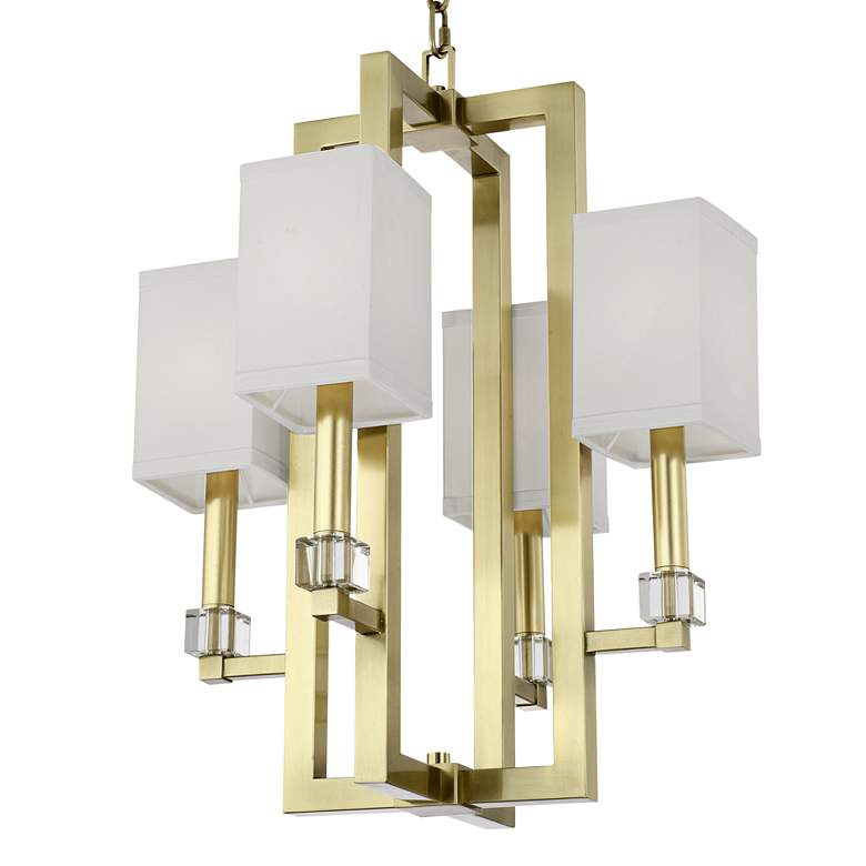 "Crystorama Dixon 18 1/2"" Wide Aged Brass 4-Light Chandelier"